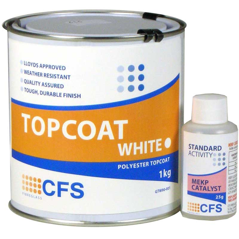 1kg Pack White Topcoat