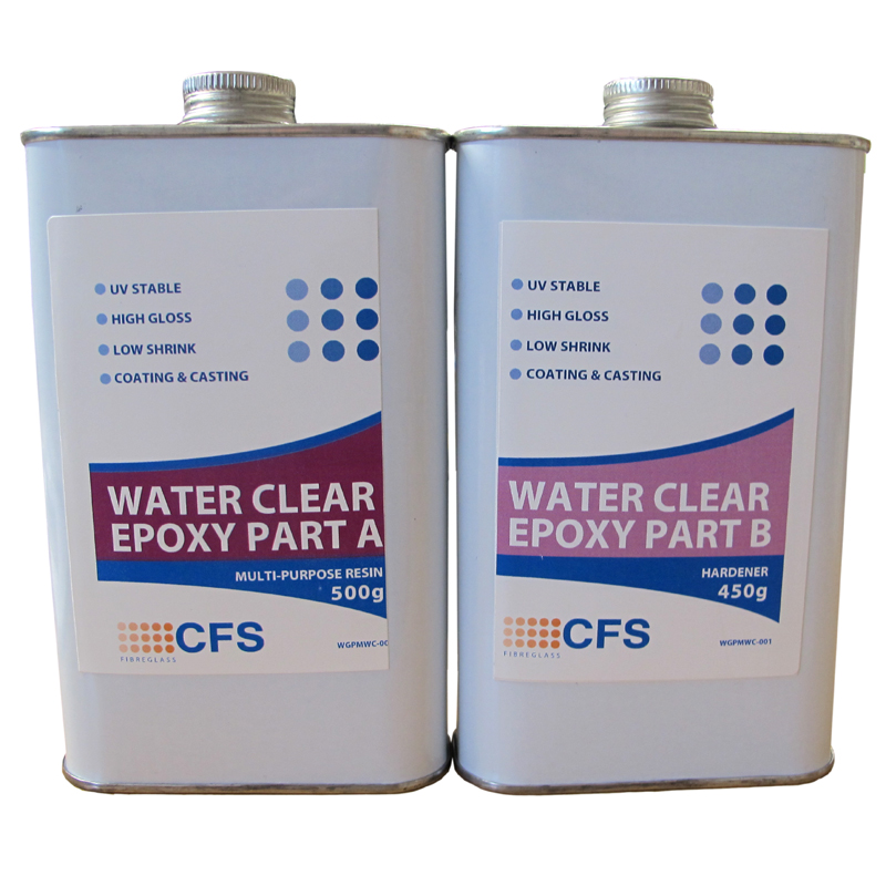 Clear Epoxy Paint : Multi purpose water clear epoxy g kit