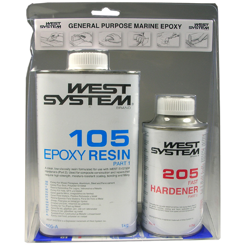 105 West Epoxy A Pack 1 2kg Kit